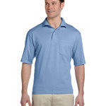 5.6 oz., 50/50 Jersey Pocket Polo with SpotShield™