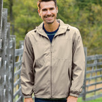 Adult Micro-Polyester Full-Zip Jacket with Hood