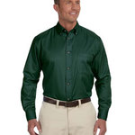 Men's  Long-Sleeve Twill Shirt with Stain-Release