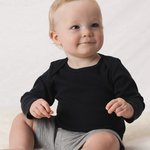 Infant Baby Rib Long Sleeve Infant Lap Shoulder T-Shirt
