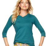 Ladies' V-Neck T-Shirt with ¾ Sleeves