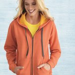 Ladies' Heavy Blend Vintage Missy Fit Full-Zip Hooded Sweatshirt