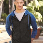 Lightweight Jersey Raglan Hooded Full-Zip