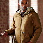 Adult Sanded Duck Sherpa-Lined Cotton Hooded Jacket
