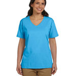 Ladies' 5.2 oz. Tagless® V-Neck T-Shirt