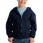 Youth NuBlend ® Full Zip Hooded Sweatshirt