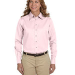 Ladies'  Long-Sleeve Twill Shirt with Stain-Release