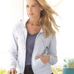 Ladies' Full-Zip ComfortBlend EcoSmart Hooded Sweatshirt